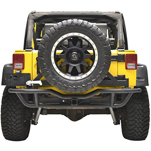 E Autogrilles Rear Tube Bumper With Tire Carrier For Jeep Wrangler