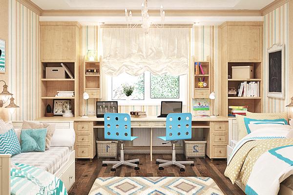 Mueble melamina color madera, muebles de melamina, muebles dobles ...