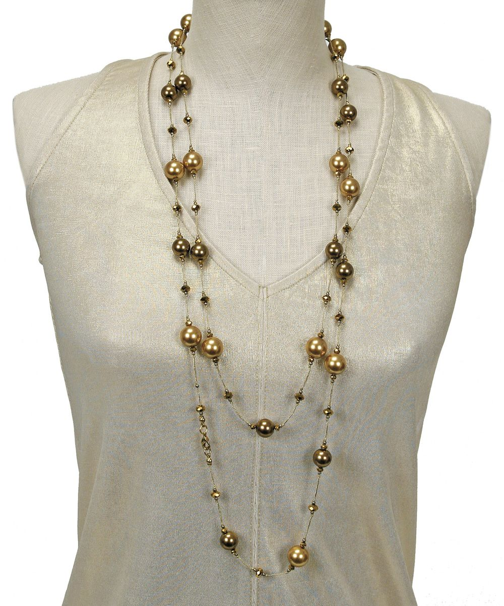 Gold Pearl Necklace   zulily