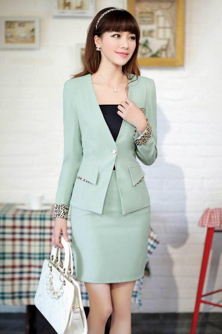mint green skirt suit | Skirt the Ceiling | http