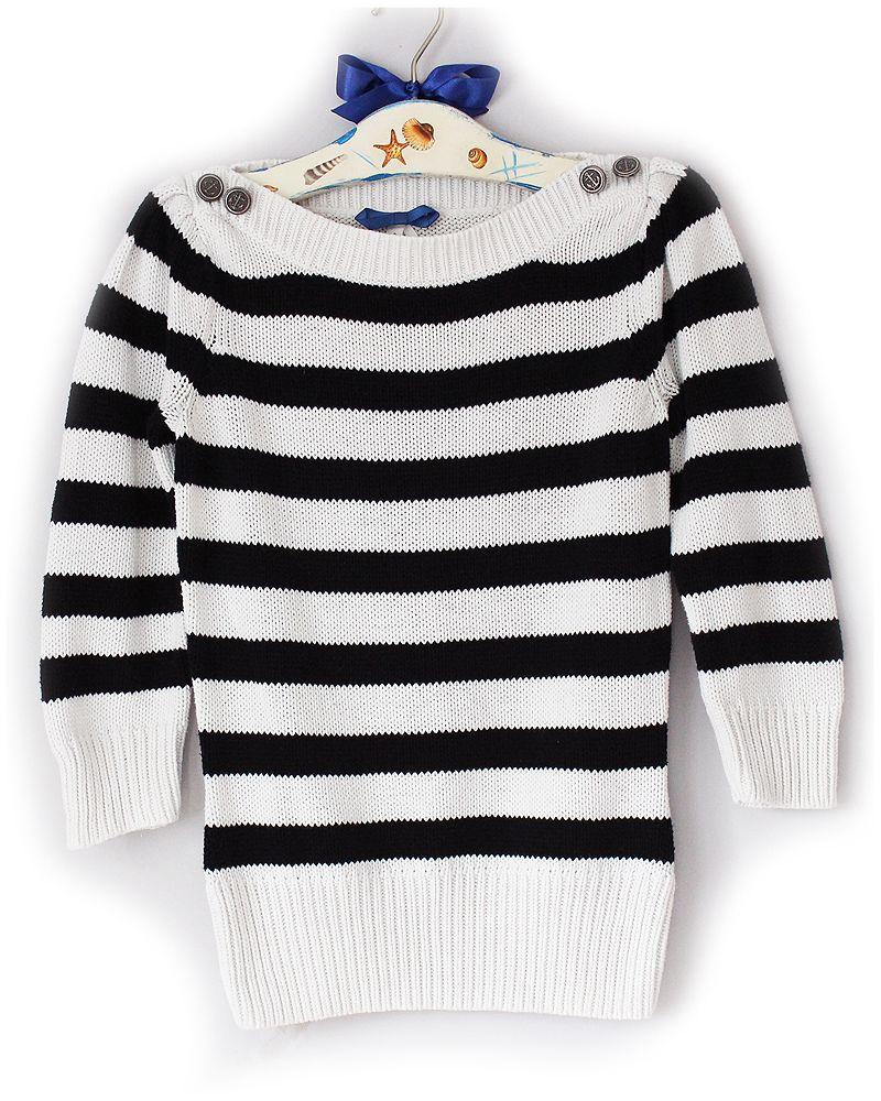 Next Sweterek Paski Love Marine Guzik Kotwice 38 M 7090163968 Oficjalne Archiwum Allegro Sweaters Fashion Marine