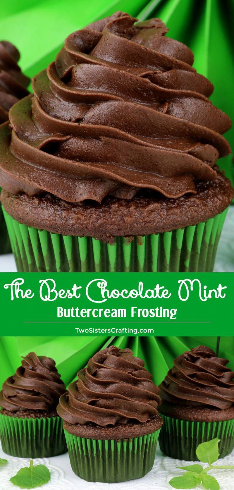 The Best Chocolate Mint Buttercream Frosting is the perfect combination of chocolate and mint in one easy to make homemade buttercream frosting! If you like Thin Mints you will love this Homemade Frosting. Pin this great Frosting idea for later and follow us for more great Frosting Recipes!