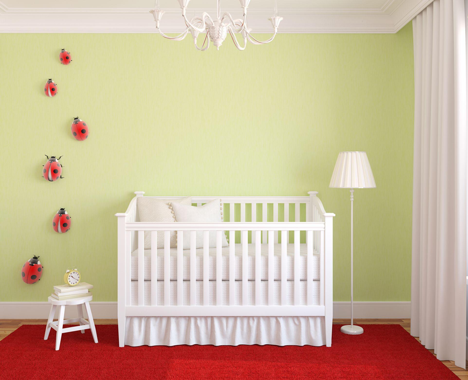 dormitorio color verde limn cuna blanca paradormitorio bebehabitaciones - Decoracion De Habitaciones De Bebes