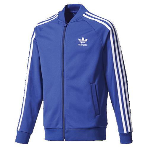 Adidas originali superstar traccia ragazzi della scuola elementare di giacca a piedi