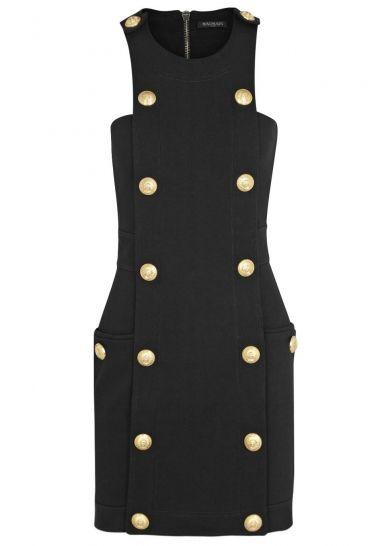 Black cotton mini dress - Evening Dresses - Dresses - All Clothing - Women