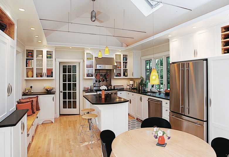 Vaulted Ceilings 101 History Pros Cons And Inspirational Examples Kitchen Soffit Kitchen Design Vaulted Ceiling Kitchen