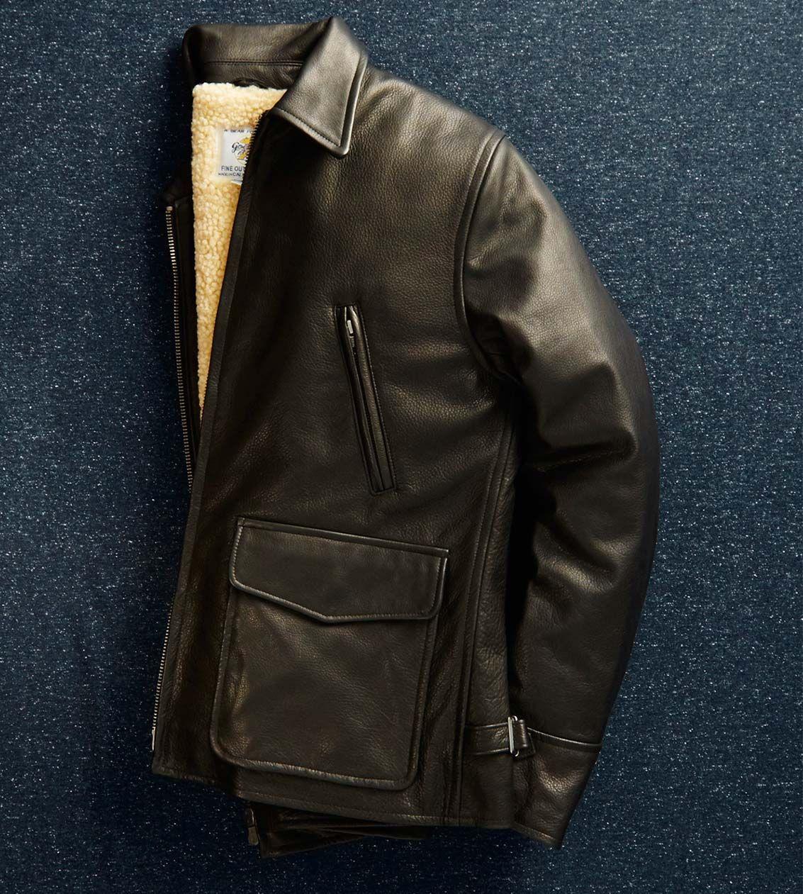 The Outerwear Shop Club Monaco Classic Leather Jacket Winter Coat [ 1261 x 1133 Pixel ]