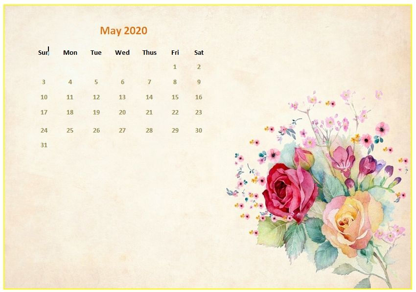 Compensation may impact where products are placed on our site, but. May 2020 Desktop Calendar Wallpaper