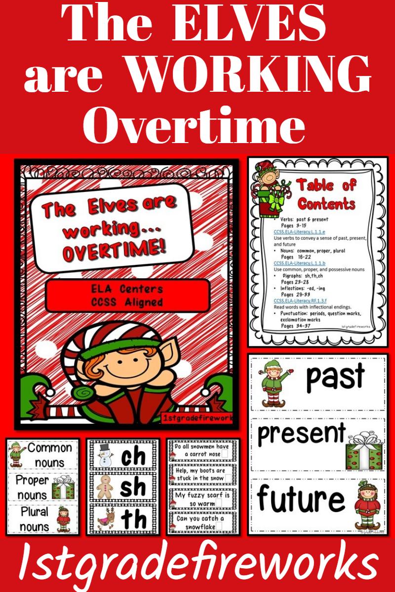 The Elves Are Working Overtime Phonics Phonics Activities Language Arts Centers [ 1200 x 800 Pixel ]