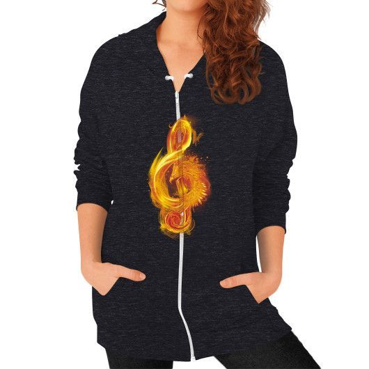 Music Reborn Zip Hoodie (on woman)