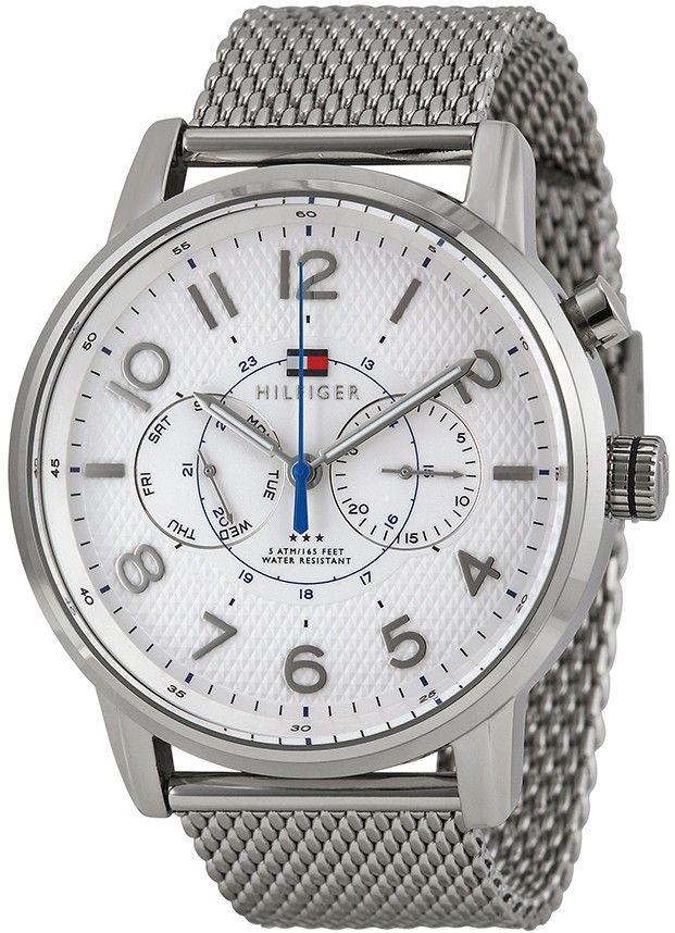baeb43a0eef1 Tommy hilfiger Hombre 1791087 N a Reloj Acero inoxidable Plata ...