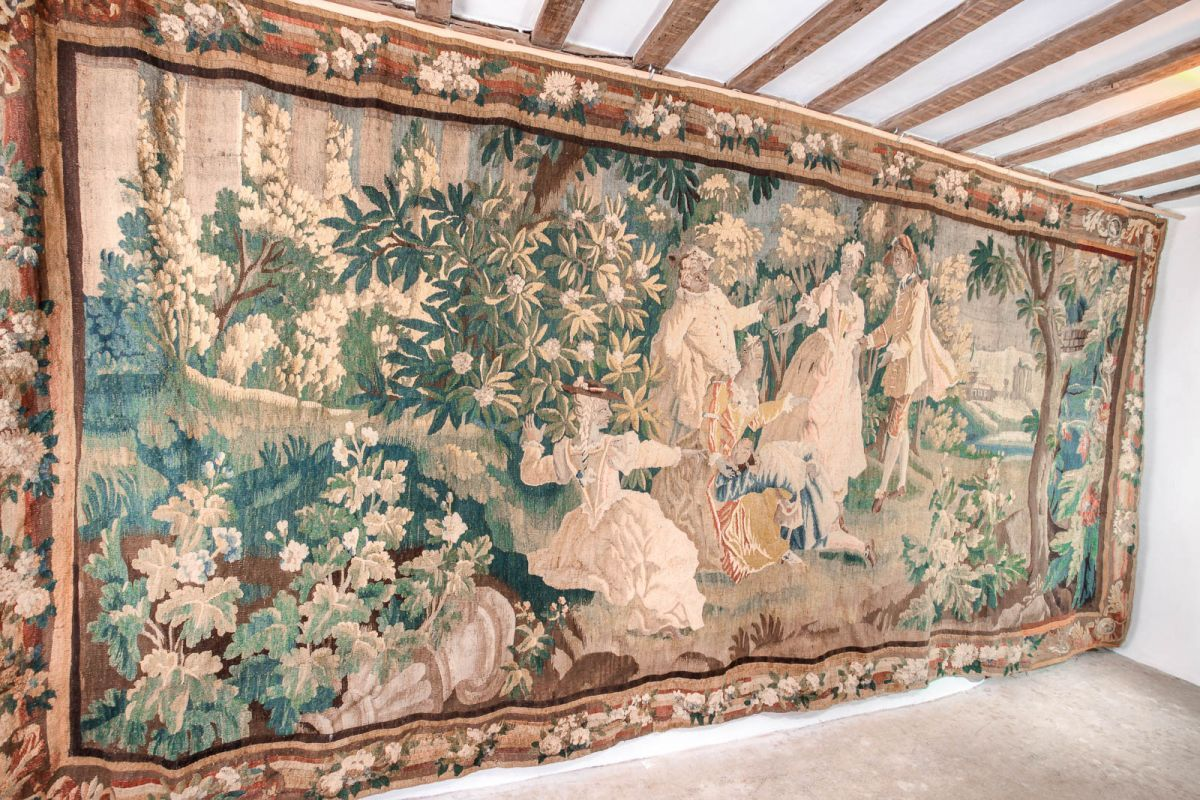 Aubusson tapestry, circa 1680 - 1720 Marhamchurch antiques