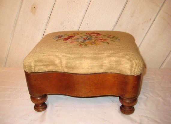 Antique Curved Foot Stool Furniture