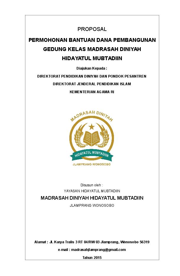 Proposal Pembangunan Gedung Madrasah Mix Schwen Academia Edu Proposal Gedung Pendidikan
