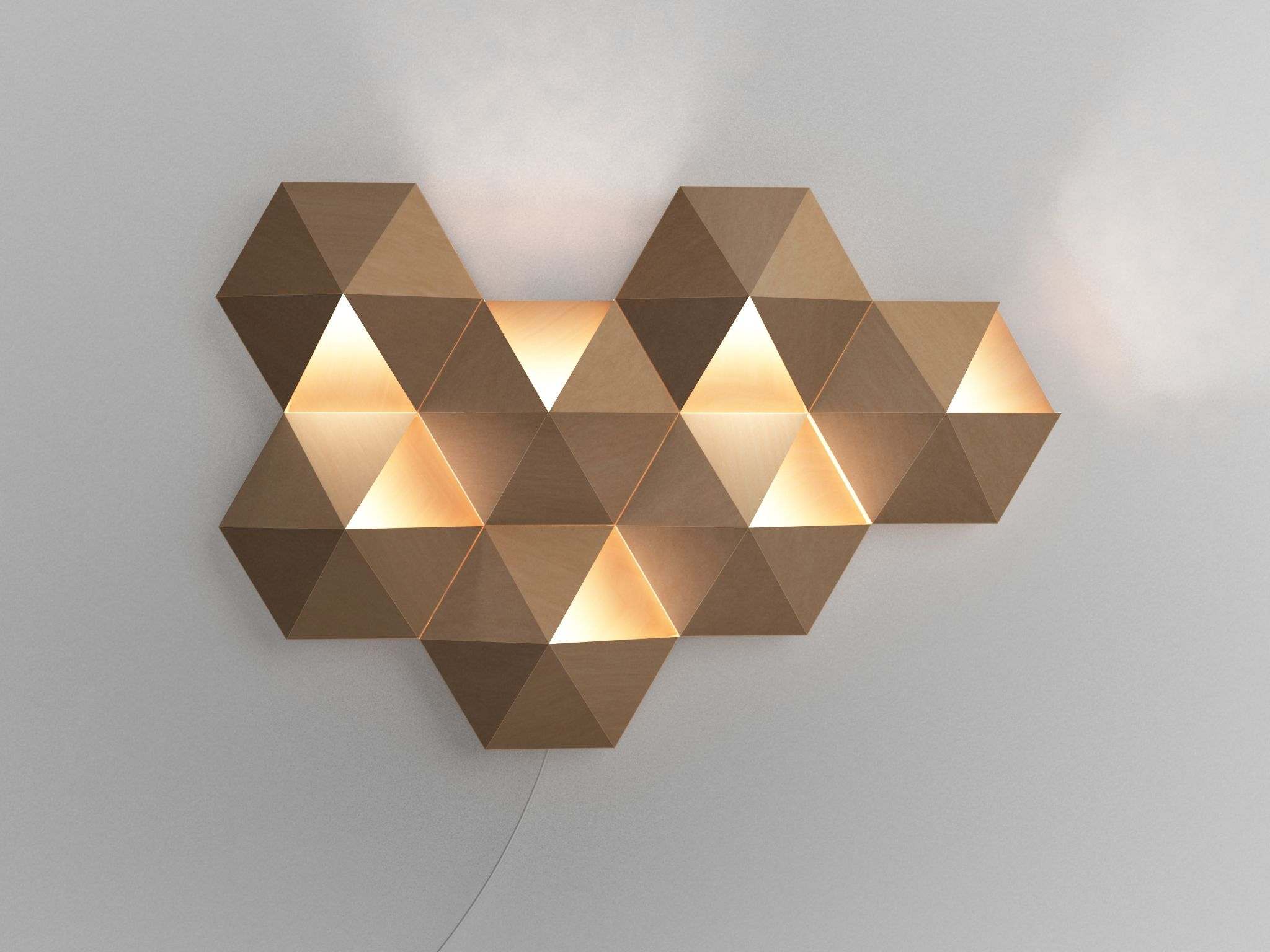 Jervis Chua / AmbiHive ambient wall lamp. #industrial #product ... for Geometric Wall Lamp  153tgx