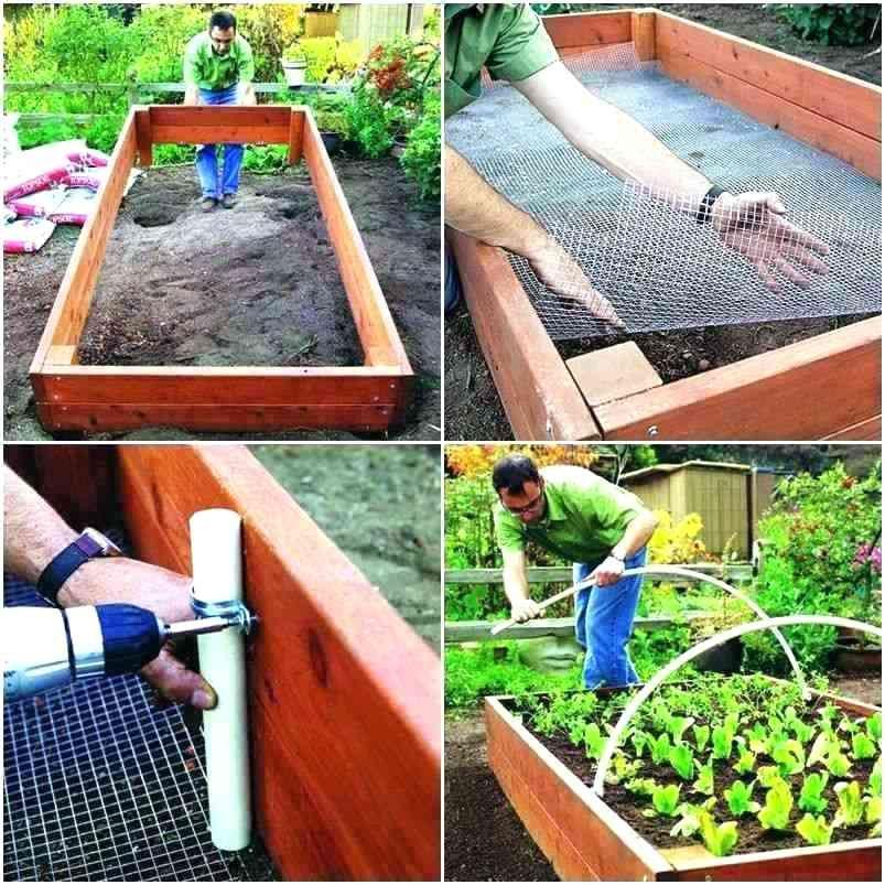 DIY Raised Garden Beds Design For Corner Brackets