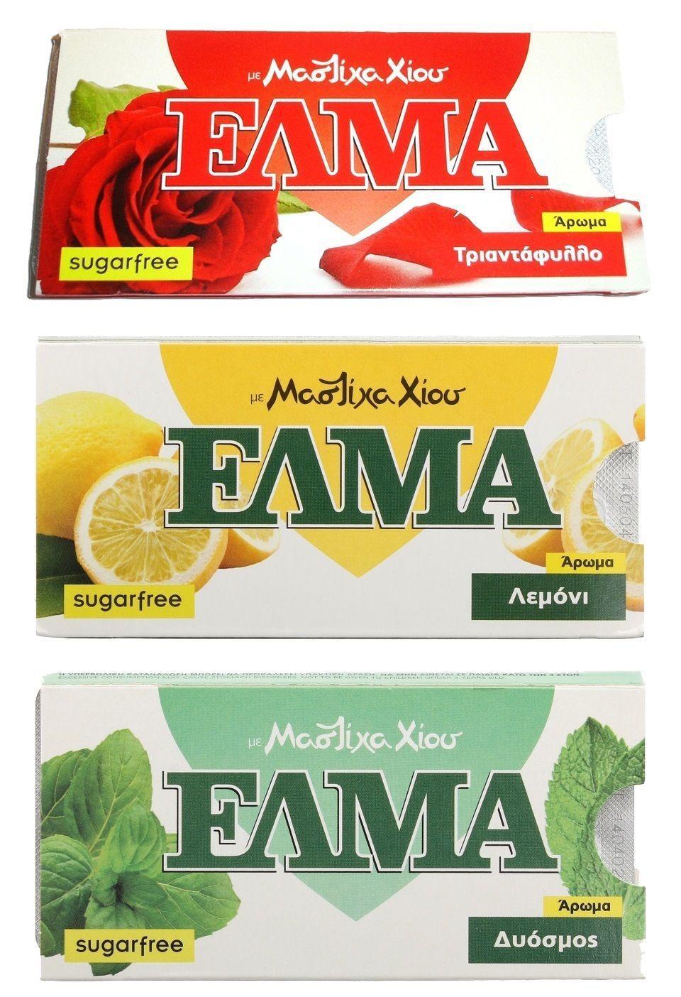 Elma Greek Natural Mastic Chewing Gum - Rose Lemon Spearmint