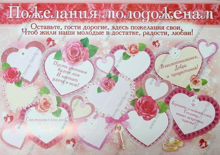 Пожелания поздравления плакаты для свадьбы это