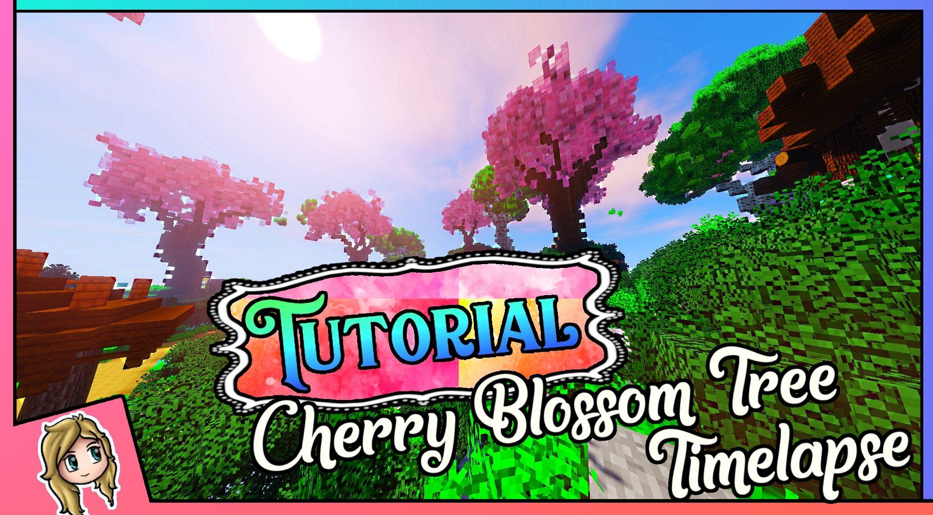 Minecraft Cherry Blossom Tree Tutorial Japanese Garden Timelapse Cherry Blossom Tree Blossom Trees Japanese Tree