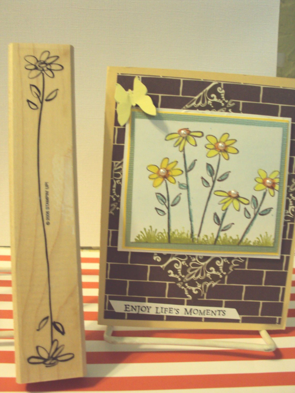Stamping Up '' Both Way Blossoms Daisy One Stamp Can do A Beautiful Card | eBay