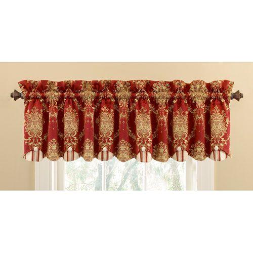 Waverly Rose Momento Merlot Window Valance Ellery Homestyles
