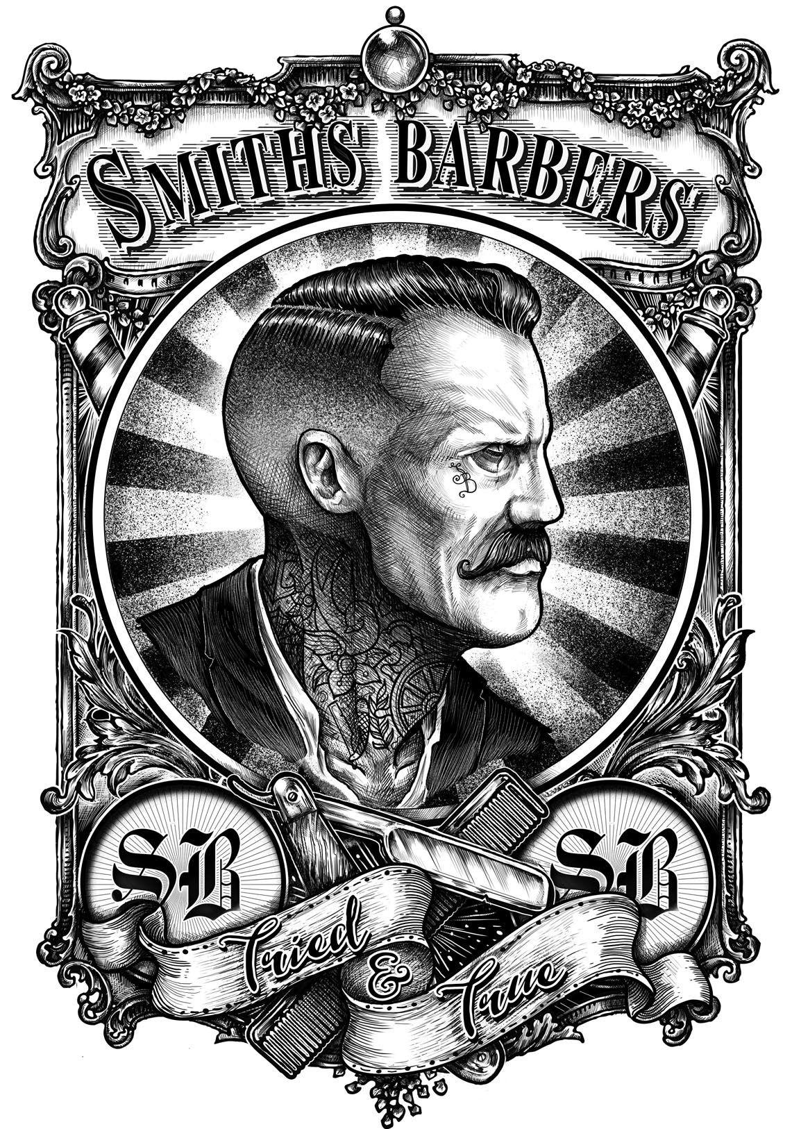 Barbershops Hairdressers On Behance Barber Shop Barber Barber Tattoo