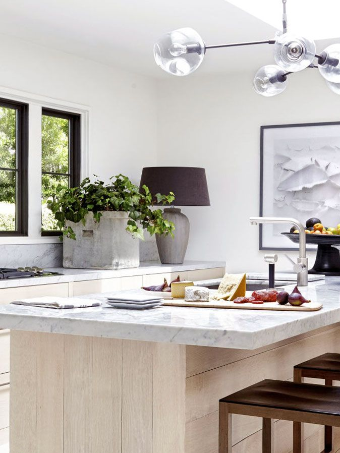 Modern Kitchen Design With Oversized Table Lamp On The Counter On Thou Swell Thouswellblog Modern Kitchen Design Table Lamps Kitchen Interior Design Kitchen