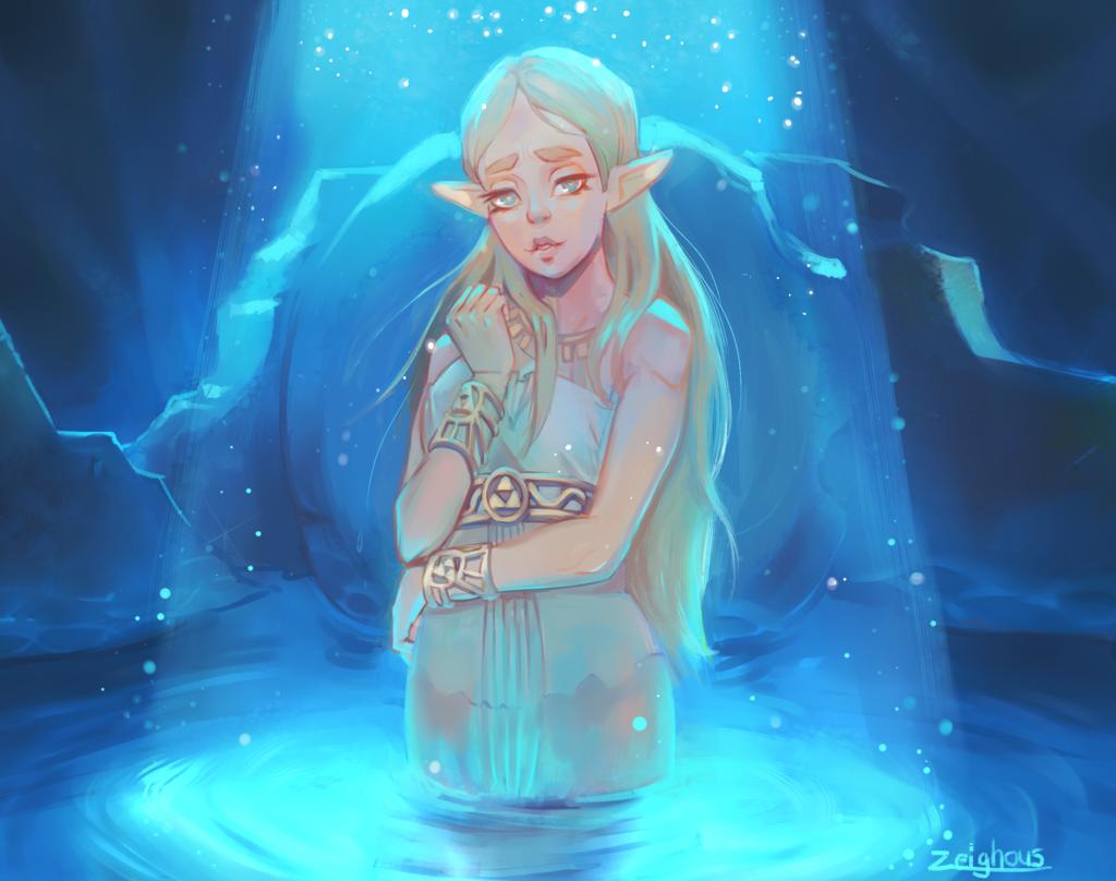 BotW Zelda by Zeighous
