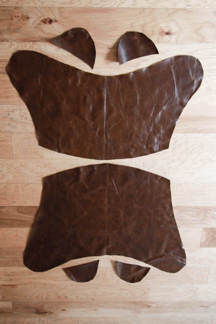 Leather Butterfly Chair Cover DIY  Pub Chocolate Leather  One Little Minute  Blog 2