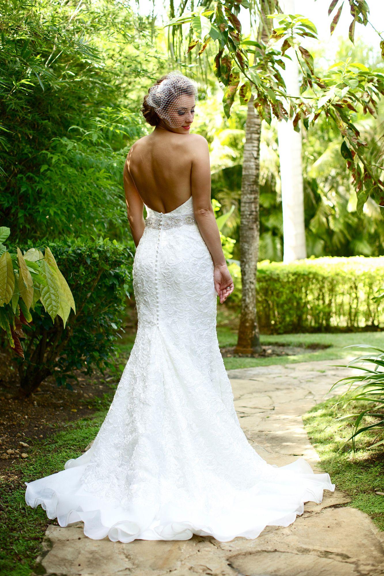 Galina signature wedding dress  Dominican Republic Wedding at Dreams La Romana Resort u Spa
