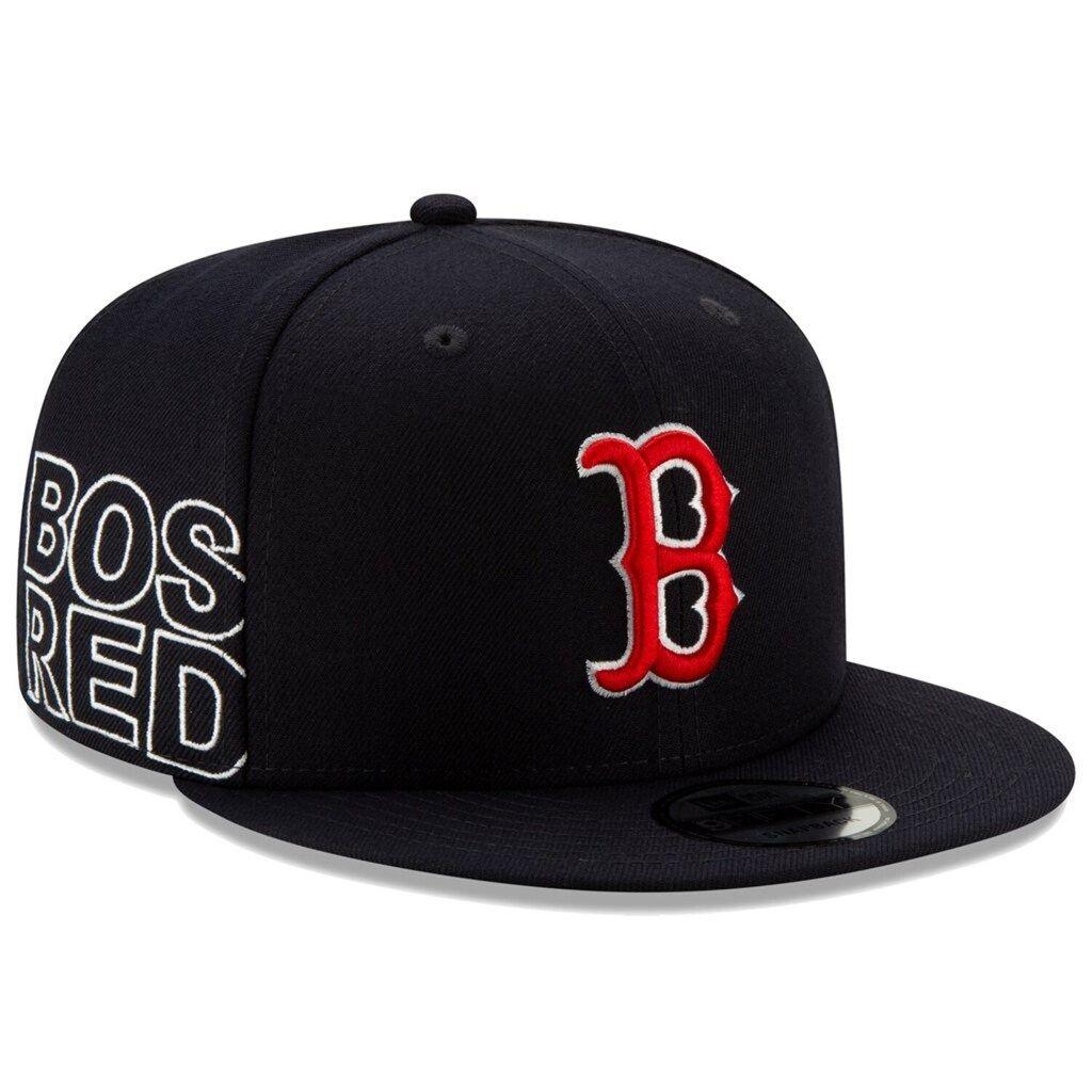 Men S New Era Navy Boston Red Sox Team Shorten 9fifty Adjustable