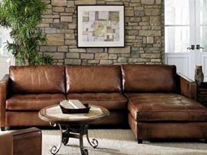 Artistic Leathers Amaretto Leather Sectional is available at Town ...