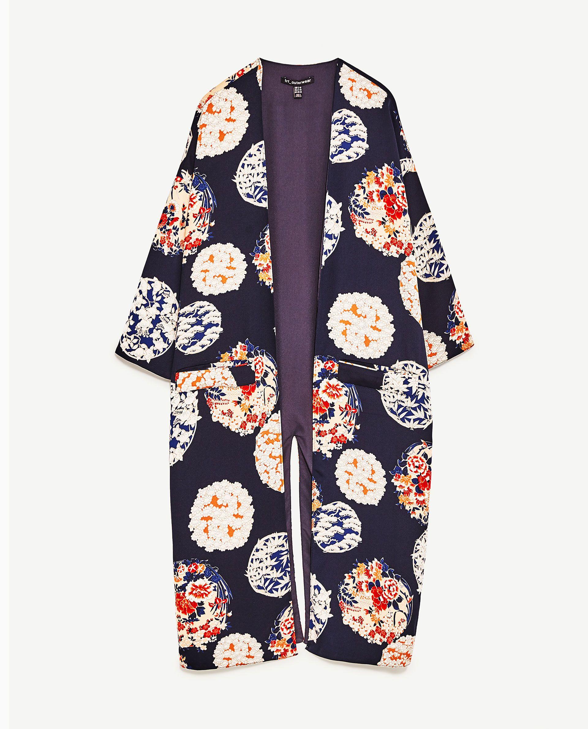 ZARA | PRINTED KIMONO JACKET | Funky Fab | Pinterest | Kimono jacket ...
