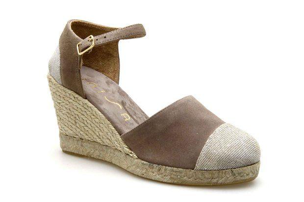 93247c07a79b3 Escarpins compensés UNISA COIMBRA Taupe - Chaussures femme ...