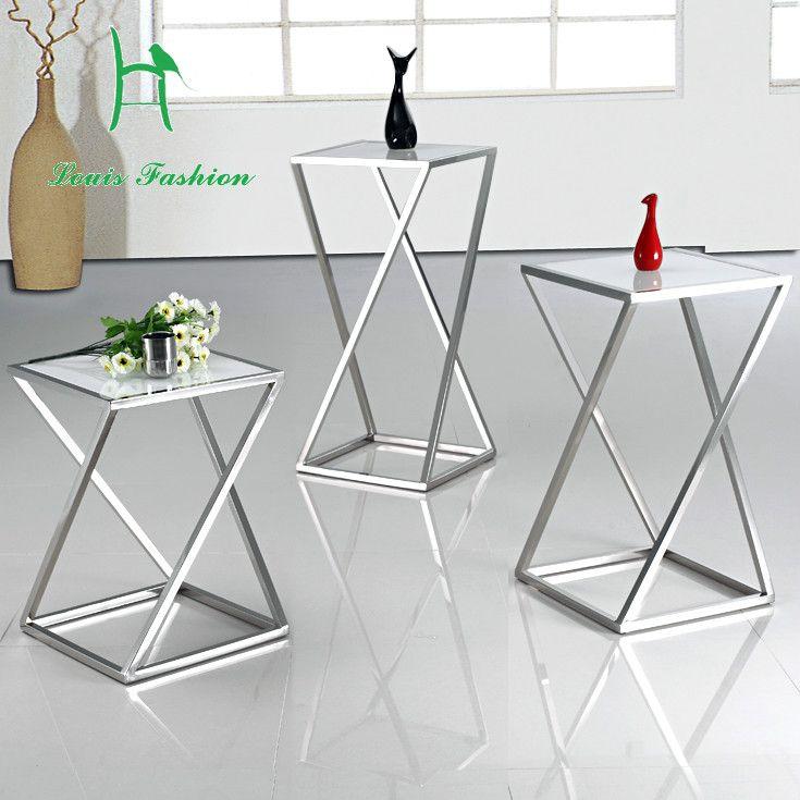 Kleine Side Table.Fashion Zwart Wit Rvs Bank Bijzettafel Kleine Thee Tafel