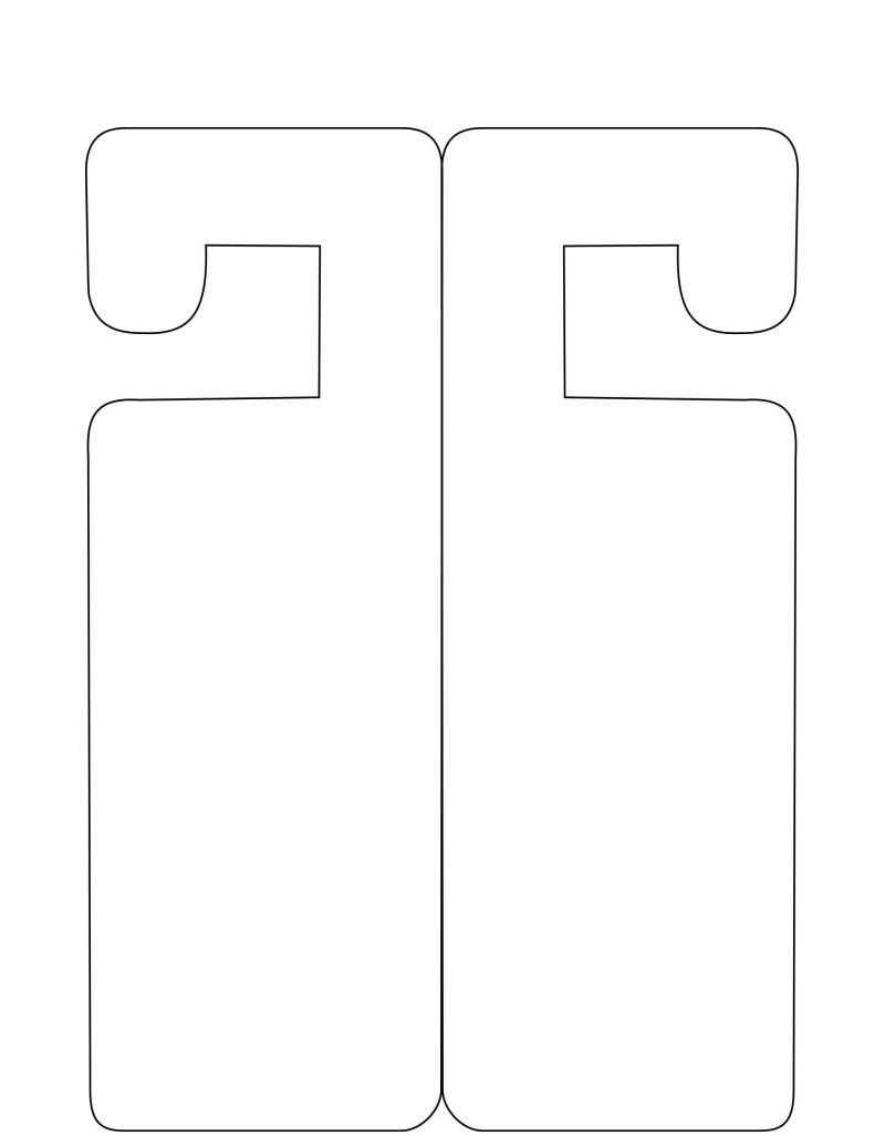 doorhanger template free to use papercraft templates pinterest