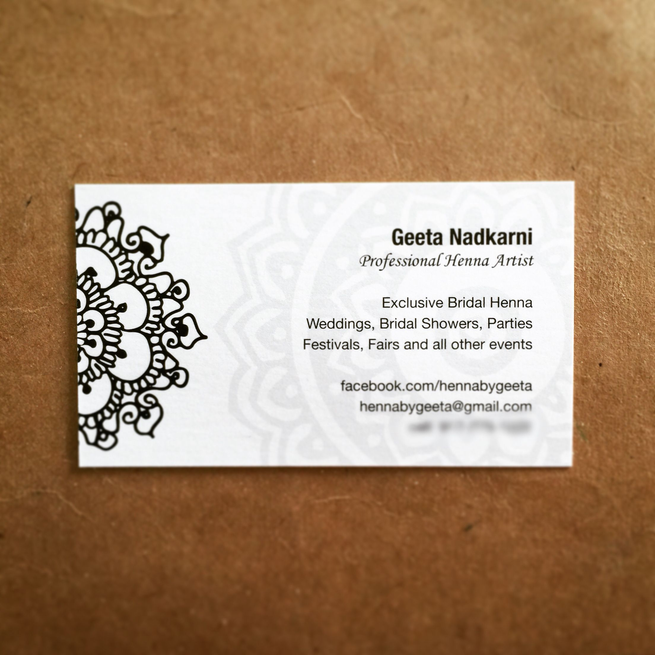 Henna By Geeta Mehndi Mehendi Designs Check Out Www Facebook Com H Artist Business Cards Design Vintage Business Cards Template Free Printable Business Cards