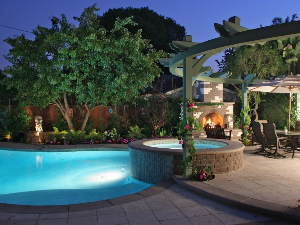 Outdoor Pool Lighting Ideas incredible outdoor pool lighting effects for elegant backyard with pavilion design ideas Landscape Lighting Ideas