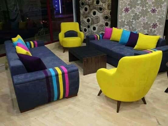 Tres joli les couleurs pour un petit salon | astuces deco ...