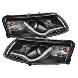 2005 2007 Audi A6 Light Tube Drl Projector Headlights Halogen Model Only Not Compatible With Xenon Hid Model Non Quattr Projector Headlights Audi Audi A6