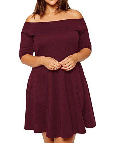 Elady Plus Size Women Off Shoulder Midi Dress Elegant Party Cocktail, http://www.amazon.com/dp/B01ERKHAVA/ref=cm_sw_r_pi_awdm_x_tTZ.xbD71ZTBD