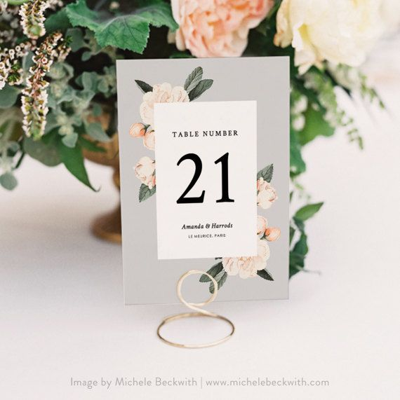 table number template printable wedding table number vintage