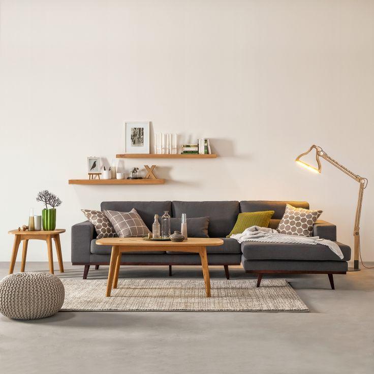 Good Home Decoration Ideas: Pretty Sofa. Ecksofa Billund   Webstoff Hellgrau    Longchair Davorstehend Rechts Images