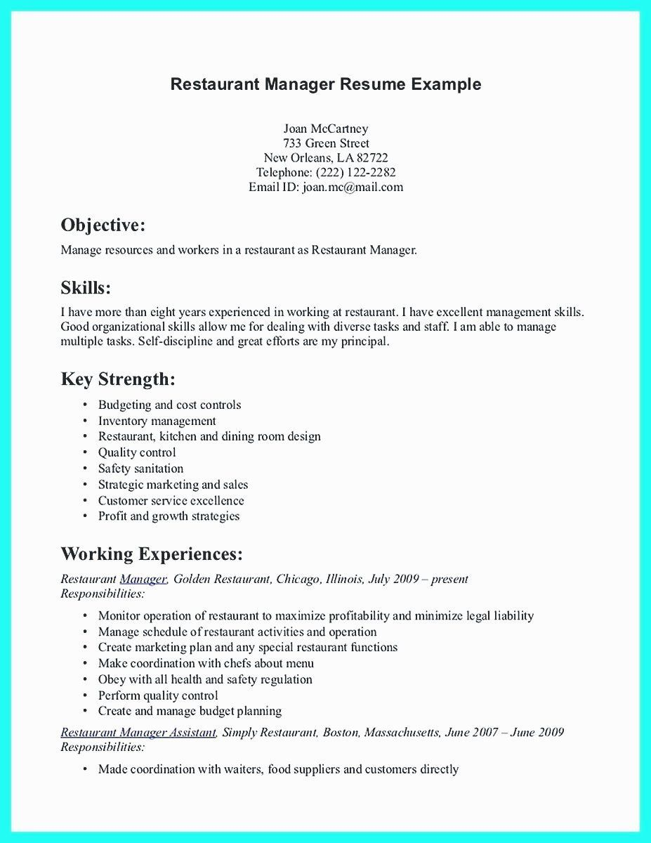 Restaurant Manager Resume Examples 40 Good Skills For Resume Resume Examples Server Resume Job Resume Examples