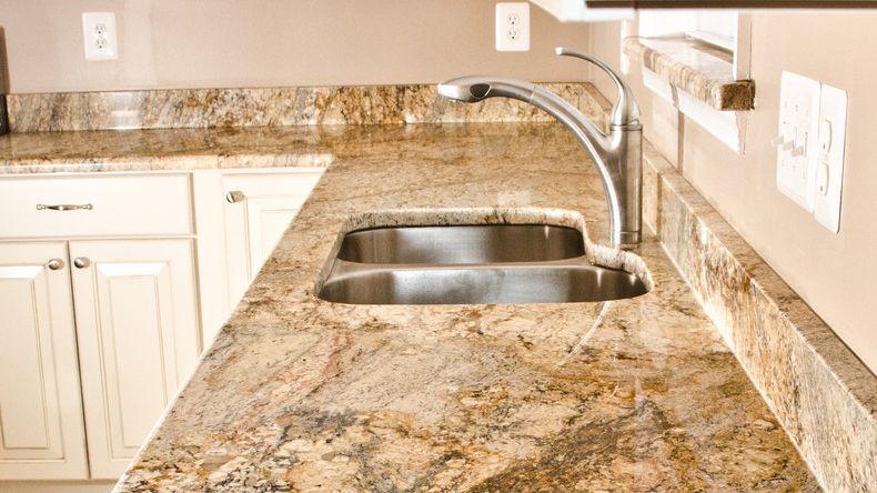 River Yellow Natural Stone Prefab Polished Style Selections Prefab Granite Countertop Granite Countertops Granite Countertop Designs Stone Countertops