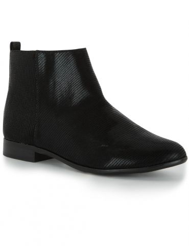 MONOPRIX bottines synthetique + cuir