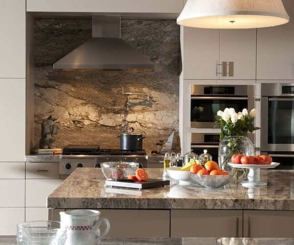 impressive granite backsplash contemporary kitchen design white