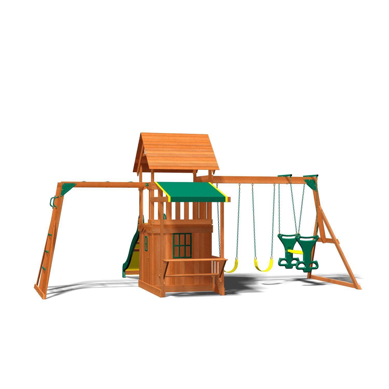 Backyard Discovery Saratoga Cedar Swing/Play Set