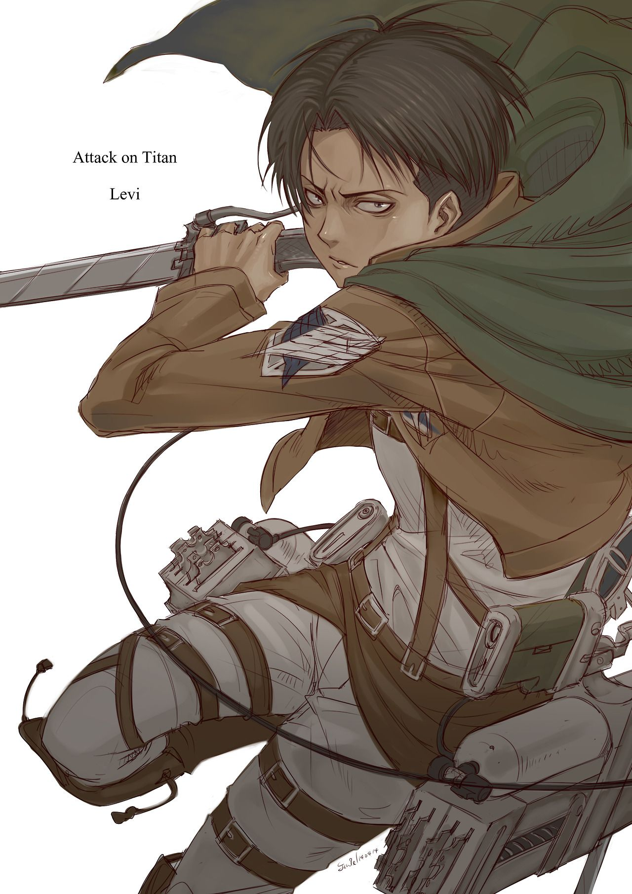 LOVE this art and how accurate it is Levi Ackerman SnK
