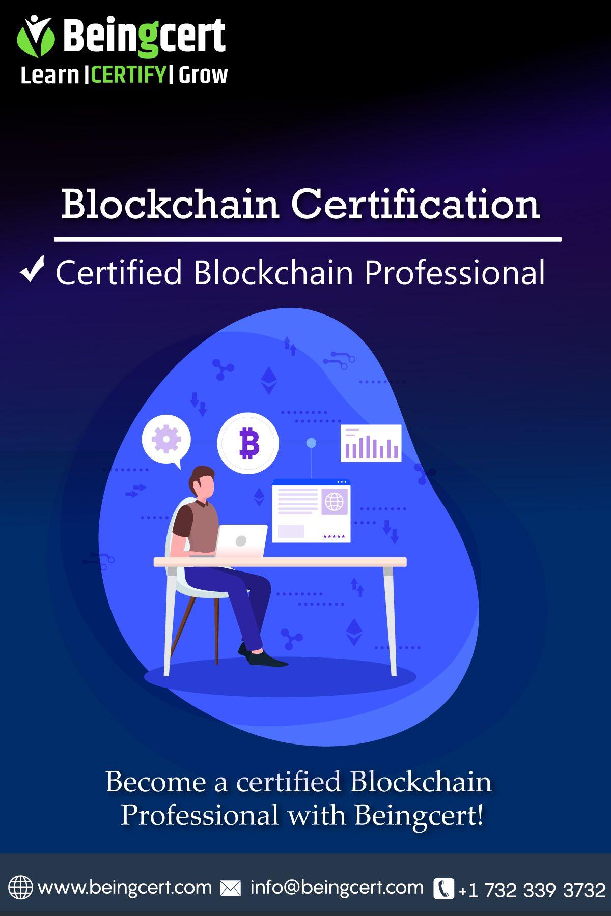 Blockchain Certification In 2020 Blockchain Technology Blockchain Certificate